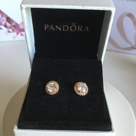 7e4de25aa Pandora Jewelry | Rose Classic Elegance Earrings New | Poshmark